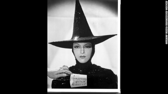 Gale Sondergaard as the Wicked Witch during a makeup and wardrobe test.