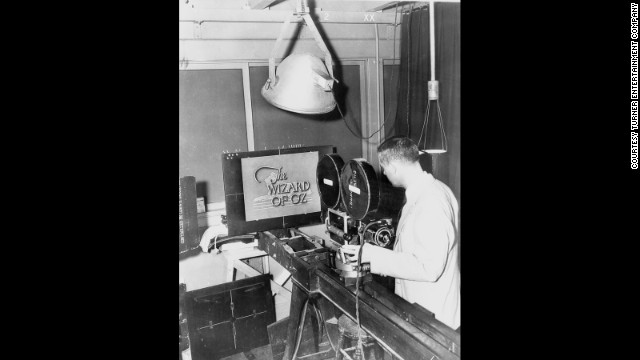 A technician photographs an opening title concept for &quot;The Wizard of Oz&quot; that was not used.