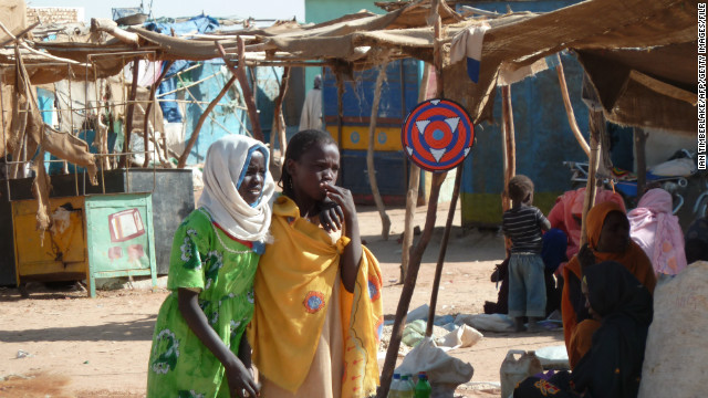 The Darfur conflict began in 2003. The U.N. estimates that by 2008, 300,000 people had been killed, and more than 3 million displaced. Pictured, two girls in the Abushouk camp for internally displaced persons, in North Darfur, in January 2012.
