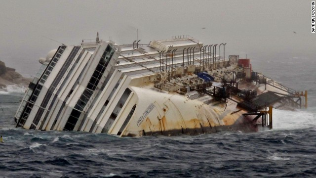 Photos: Costa Concordia one year later