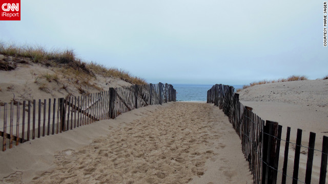 "Even in the middle of winter, ""a walk on the beach at the national seashore is always something to look forward to,"" says Marie Sager, who shot this photo. See another view of the dunes on CNN iReport."