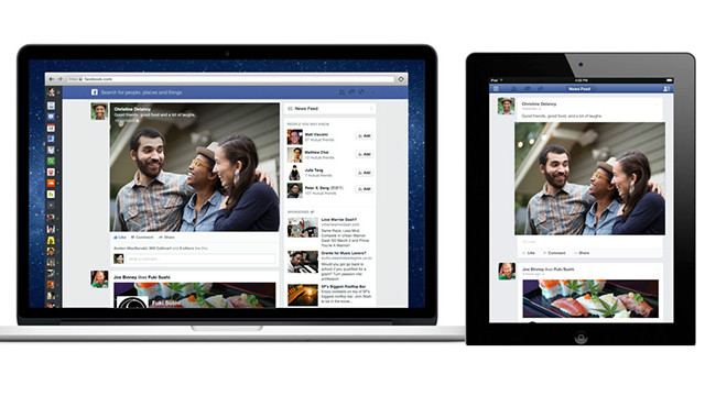The new Web design borrows from Facebook's mobile app design. The updated iOS and Android apps will be available in the coming weeks. 