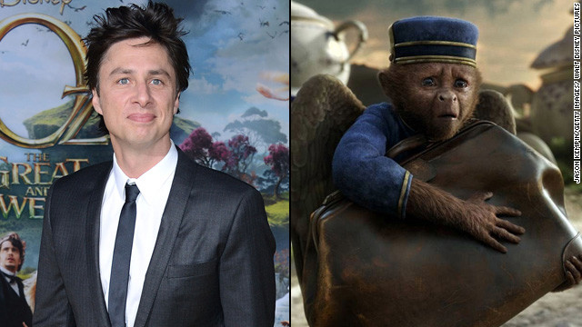 Zach Braff on playing a monkey in 'Oz'