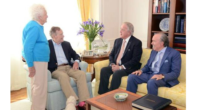 George H.W. Bush meets with an old friend