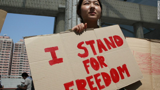 Hong Kong students take a stand against slavery