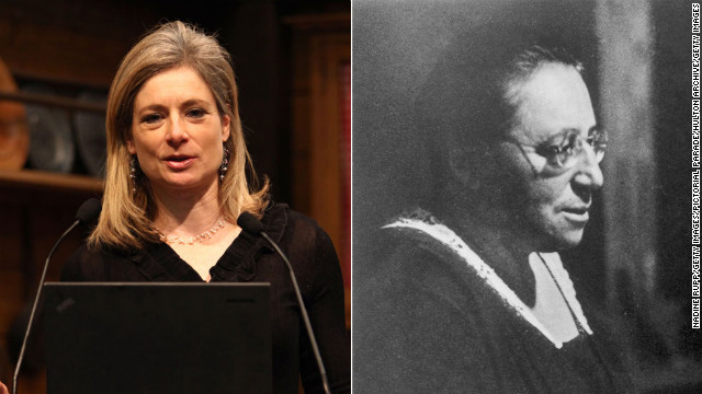 Harvard professor <a href='http://www.physics.harvard.edu/people/facpages/randall.html' target='_blank'>Lisa Randall</a>, left, researches <a href='http://www.cnn.com/2013/02/16/tech/innovation/science-exploration/index.html'>theoretical particles and cosmology</a>. By connecting the ideas about theoretical particles to the questions about the universe that physicists have yet to answer, she has developed new understanding about dark matter and extra dimensions in space. <a href='http://www.agnesscott.edu/lriddle/women/noether.htm' target='_blank'>Emmy Noether</a>, right, was also known for making connections that no one else had seen before. She came up with an algebraic theorem that connected two fundamental laws of physics. Noether's Theory is seen by some to be <a href='http://www.nytimes.com/2012/03/27/science/emmy-noether-the-most-significant-mathematician-youve-never-heard-of.html' target='_blank'>as important as Albert Einstein's theory of relativity</a>. In fact, Einstein considered Noether to be the most significant female mathematician.