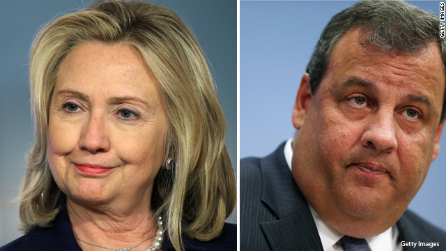 Top 10 states buzzing about Chris Christie and Hillary Clinton