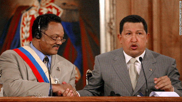 Rev. Jesse Jackson attending Chavez funeral
