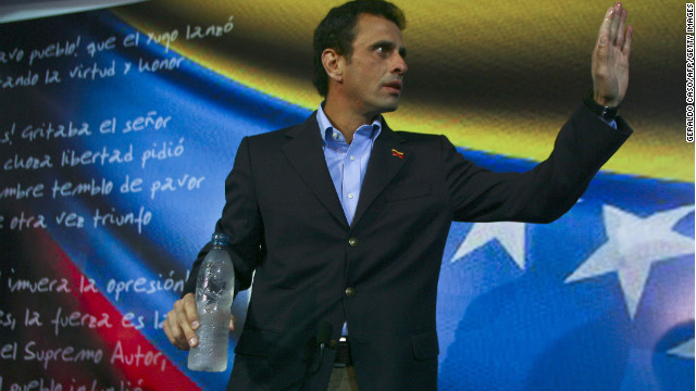 Venezuelan opposition leader Henrique Capriles says he will run for president.