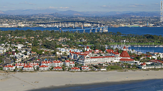 One of the country's most successfully revitalized coastal resort communities draws vacationers over the San Diego-Coronado Bridge.