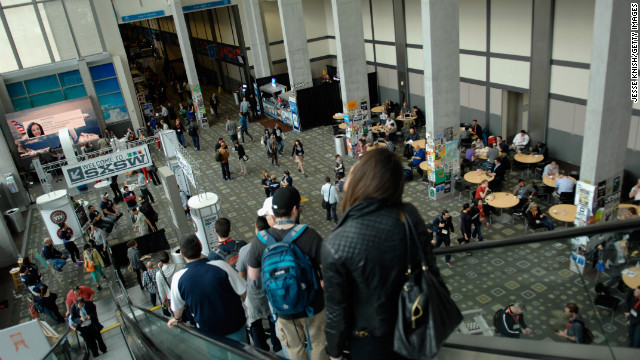 Attendees arrive at the Austin Convention Center on March 8 at the start of SXSW.