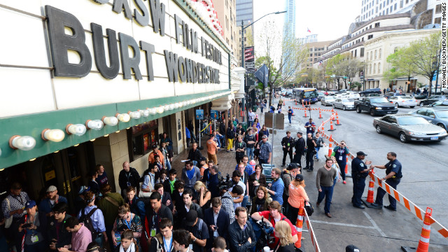 Fans line up for a screening of &quot;The Incredible Burt Wonderstone&quot; on Friday, March 8.