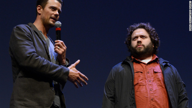 "Actors Josh Duhamel, left, and Dan Fogler attend the SXSW screening of ""Scenic Route"" at the Topfer Theatre on March 8."