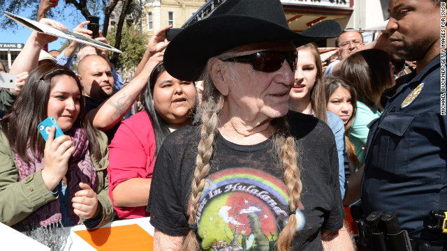 Country singer Willie Nelson attends the March 10 premiere of &quot;When Angels Sing&quot; at SXSW.