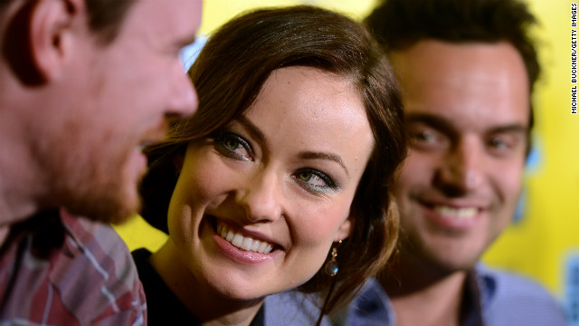 From left, director Joe Swanberg, actress Olivia Wilde and actor Jake Johnson attend the world premiere of &quot;Drinking Buddies&quot; on March 9 at SXSW.