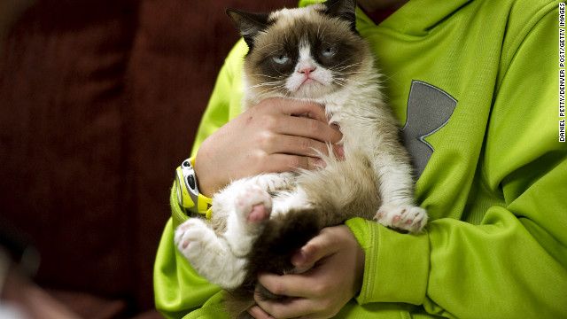 Tardar Sauce, better known by her viral Internet meme name &quot;Grumpy Cat,&quot; has been a hit at SXSW. &lt;a href='http://www.cnn.com/2013/03/10/tech/web/grumpy-cat-sxsw/index.html?hpt=hp_c2' target='_blank'&gt;Read more.&lt;/a&gt;