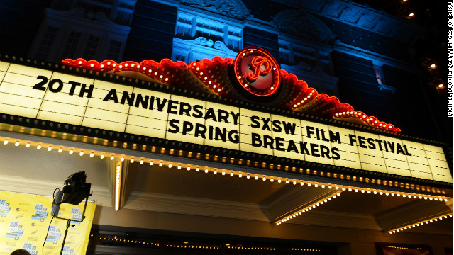 """Spring Breakers"" premieres during the 2013 SXSW Music, Film and Interactive Festival at Austin's Paramount Theatre on March 10."