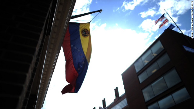 Two Venezuelan diplomats were expelled from the United States, a U.S. official said Monday.