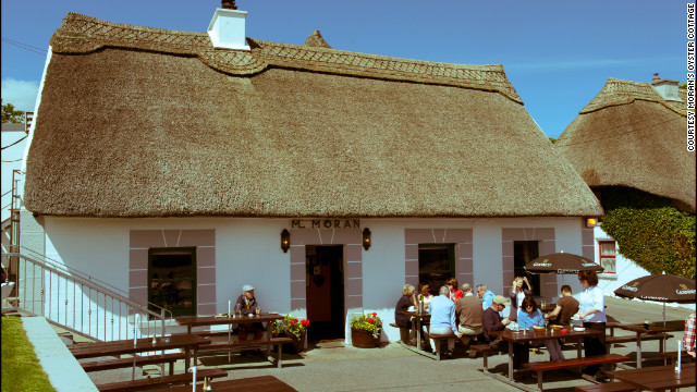 Moran's Oyster Cottage outside Galway serves