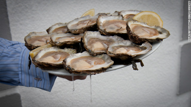 Moran's Oyster Cottage serves local oysters on the half shell and grilled oysters with garlic bread crumbs.
