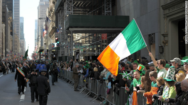 New York's annual St. Patrick's Day Parade honors the patron saint of Ireland. The first city march dates to March 17, 1762.
