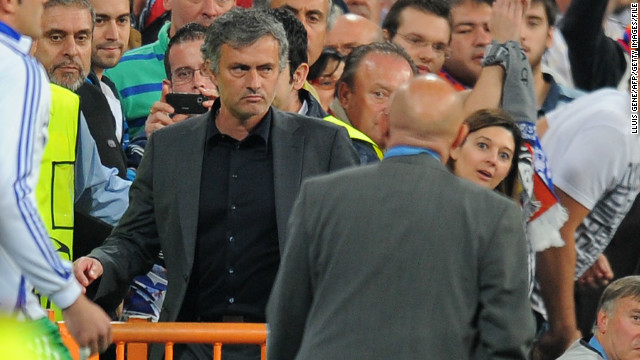 "Real Madrid coach Jose Mourinho named Ovrebo and a number of his colleagues in a list of referees he considered to be sympathetic towards Barcelona. ""I can't say what I feel. I only leave one question. Why?"" said Mourinho after a 2011 Champions League semifinal loss to Barca. ""Why? Ovrebo, (Massimo) Busacca, (Anders) Frisk, (Wolfgang) Stark, (Frank) De Bleeckere. ""Why to all these people. Each semifinal always brings the same. We're talking about a fantastic football team. So why?"