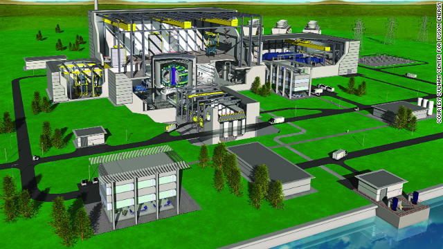 A CGI of how fusion power plants of the future might be laid out. For more details on fusion power visit the <a href='http://www.ccfe.ac.uk/introduction.aspx' target='_blank'>Culham Center for Fusion Energy</a>.