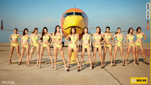 Thailand-based low-cost carrier Nok Air\'s controversial calendar. 