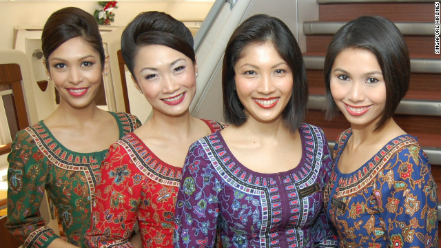 Singapore Airlines' iconic Singapore Girl first appeared in 1972 wearing the &quot;sarong kabaya&quot; uniform, inspired by traditional attire found across much of Southeast Asia.