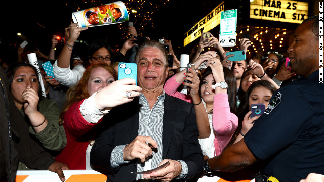 Actor Tony Danza arrives at the screening of &quot;Don Jon&quot; at the Paramount Theatre in Austin on March 11.