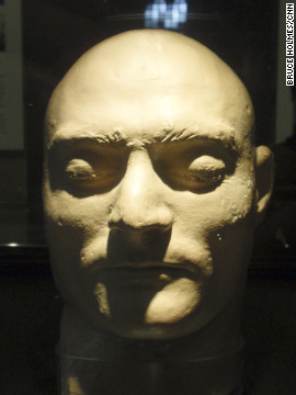 Death mask of Ned Kelly, displayed at Old Melbourne Gaol.