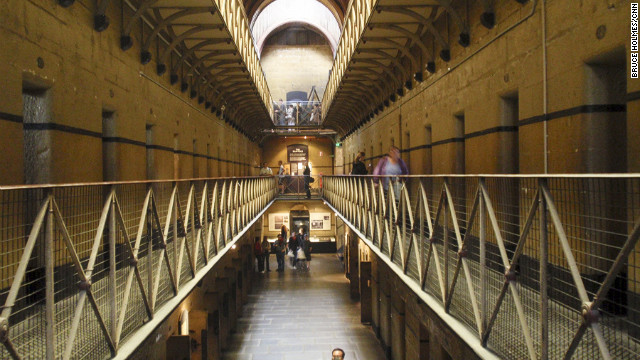 Grim view inside Old Melbourne Gaol.