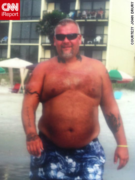 <a href='http://ireport.cnn.com/docs/DOC-930771'>Truck driver John Drury </a>used to spend 70 hours a week behind the wheel, eat greasy food at truck stops, and avoid the gym. By the summer of 2010, Drury weighed 400 pounds.