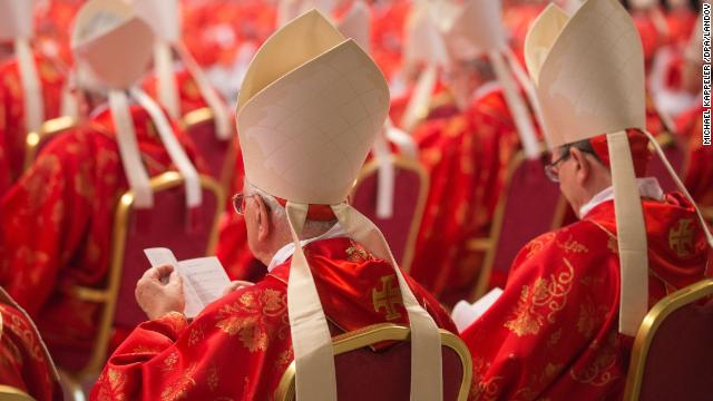 Cardinals attend the religious Mass Pro Eligendo Romano Pontifice at St. Peter's Basilica in the Vatican, Vatican City, on March 12. The Catholic Church's 115 cardinal electors are taking part in the Mass ahead of entering the conclave for a papal election that observers say has no clear favorite.