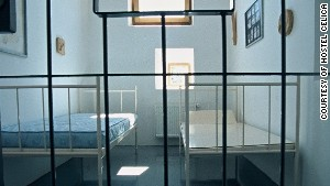 Refurbished prison cells provide accommodation at the Hostel Celica.
