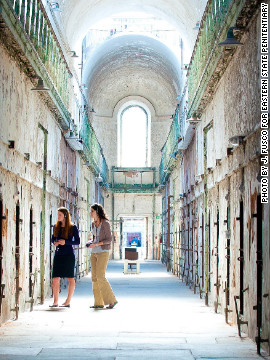 Using the audio tour, visitors explore the haunting and crumbling building and listen as former guards and inmates describe life at Eastern State Penitentiary.