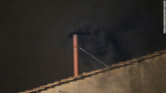 BLACK SMOKE: No pope tonight