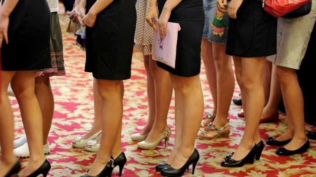 A woman's attractiveness is still considered to be an asset for some jobs -- including government positions -- in China.