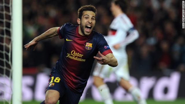 Jordi Alba added a fourth in stoppage time as Barcelona became the first team to overturn a two-goal first leg deficit without an away goal in the history of the competition.