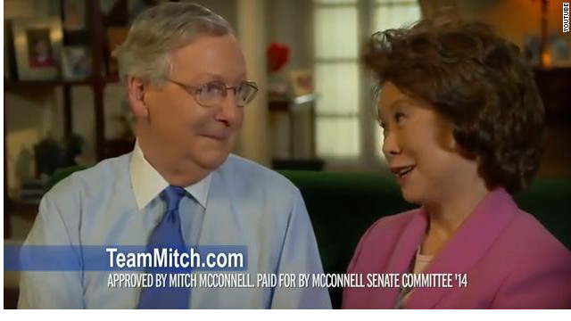 McConnell's wife pushes back against slur in his first re-election ad