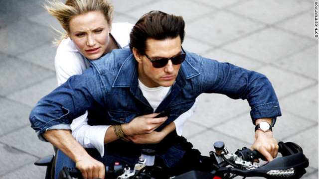 "Nearly a decade after their ""Vanilla Sky"" romance in 2001, Cameron Diaz and Tom Cruise teamed up for ""Knight and Day."""