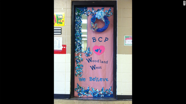 The door of Terrilynn Monette classroom.