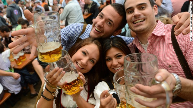 Germans may not be Europe's biggest beer drinkers (that honor goes to the Czechs) but they've cornered the market in celebrating its consumption. This is largely thanks to Oktoberfest, Bavaria's month-long answer to St. Patrick's Day.