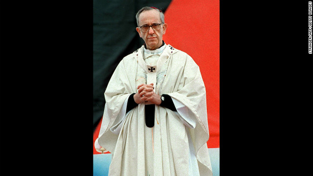 This undated photo shows Bergoglio, who was appointed a cardinal by Pope John Paul II.