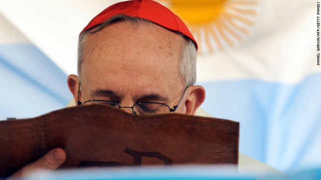 Bergoglio delivers his homily at the church of St. Cajetan in Buenos Aires on August 7, 2009.