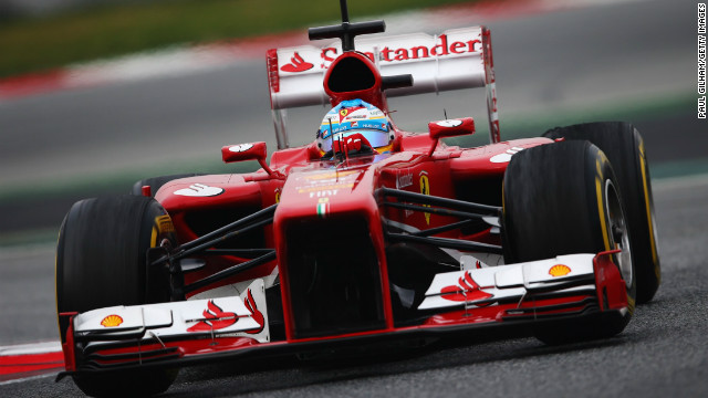 Alonso Ferrari Fire a Fired-up Fernando Alonso