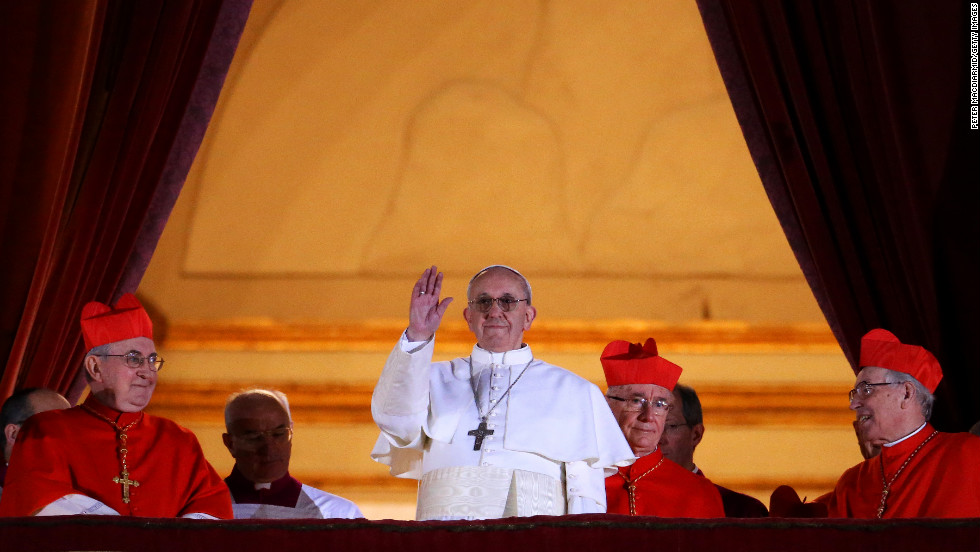 The new pope is Argentinian Cardinal Jorge Mario Bergoglio, the former archbishop of Buenos Aires, who takes the name Pope Francis. The announcement came on Wednesday, March 13, the first full day of the cardinals' conclave in the Sistine Chapel.