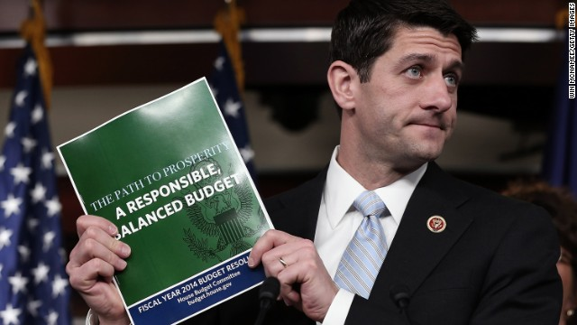 Rep. Paul Ryan, chairman of the House Budget Committee, presents his budget plan Tuesday.