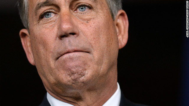 Boehner's tepid support for Sanford