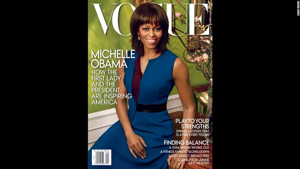 Michelle Obama appears on the cover of April's edition of Vogue, the second time the first lady's photo has graced the front of the fashion bible. See other magazines who have featured her on their cover.